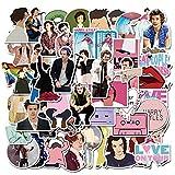 50PCS Cantante británico Harry Styles Pegatinas Calcomanía para Scrapbook Laptop Teléfono Guitarra PS4 Maleta Patineta Pegatina Cool Sticker