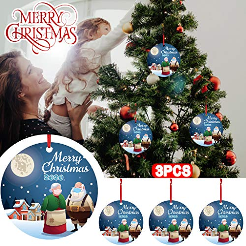 Lemoning Christmas Tree Decorations and Ornaments, 3Pc 2020 Christmas Ornaments Hanging Decoration Gift Product Personalized Family