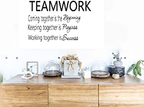 Removable Vinyl Mural Decal Quotes Art Teamwork Definition Coming Together is The Beginning Keeping Together is Progress Working Together is Success for Office