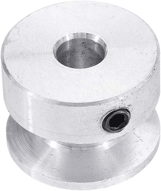 10mm CoCocina 20MM Single Groove Pulley 4//5//6//8//10MM Fixed Bore Pulley Wheel for Motor Shaft 6MM Belt