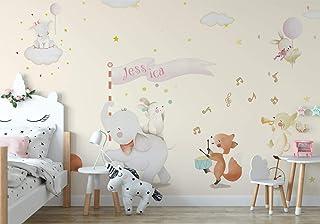amazon com fabric wall letters \u0026 numbers nursery décorwoodland safari nursery wall paper girls bedroom wall mural decor baby girls wallpaper removable fabric wall