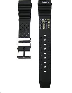 20mm Timewheel Black Italian Rubber Watch Band Strap Fits Citizen Hyper Aqualand Duplex Promaster