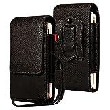 LORDWEY® Funda 6.0 Inch Universal teléfono móvil cinturón Caso de la Bolsa, Cuero de la PU Caja de la Cartera de la Cintura Smartphone Bolsa con Hebilla Lanzamiento Rápido para Teléfono