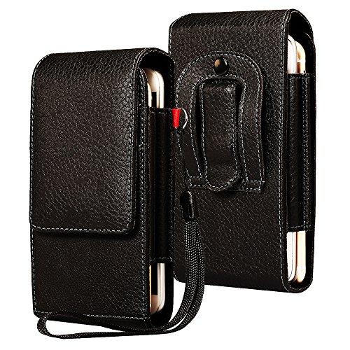 LORDWEY Funda 6.0 Inch Universal teléfono móvil cinturón Caso de la Bolsa, Cuero de la PU Caja de la Cartera de la Cintura Smartphone Bolsa con Hebilla Lanzamiento Rápido para Teléfono