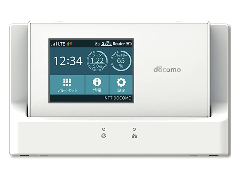 docomo NEC モバイルWi-Fiルーター Wi-Fi STATION N-01H ホワイト 白ロム