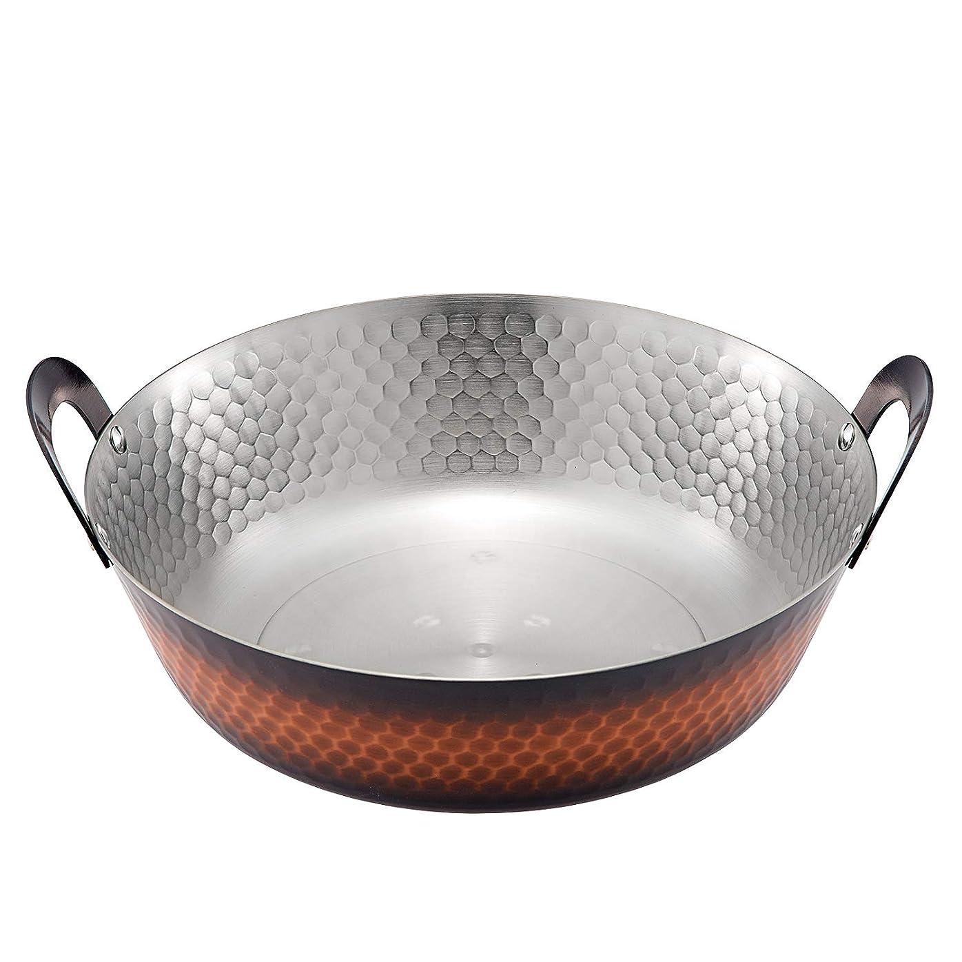ペアスリップシューズ重要な新光金属 天ぷら鍋 素銅 21cm IH対応 ミニ卓上天ぷら鍋 FS-104IH