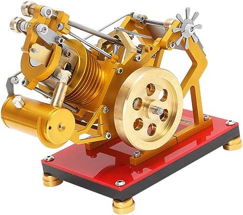 F Fityle V1-45 Flammenlecker Einzylinder Stirlingmotor Hei ftmotor für Labor Schule und Haus