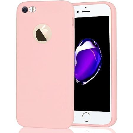 Leton Coque iPhone 5s Silicone Rose Ultra Fine TPU Souple Anti Choc Housse pour Apple iPhone 5 Se Étui Flexible Soft Ultra Mince Slim Protection ...