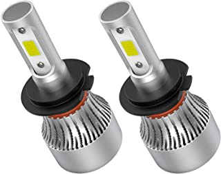Crownova H7 Led Headlight Bulbs, S2 Series Flip COB Chips, 3600lm Hi/Lo Beam, 6500k Cool Daylight