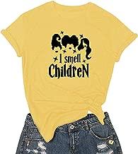 I Smell Chidren Women Casual Halloween Print Short Sleeves T-Shirt O-Neck Loose Tops