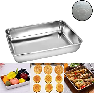 Sheet Pan,Cookie Sheet,Hotel Pan,Heavy Duty Stainless Steel Baking Pans,Toaster Oven Pan,Jelly Roll Pan,Barbeque Grill Pan,Deep Edge,Superior Mirror Finish, Dishwasher Safe (16.2x12.6x2.4 inches)