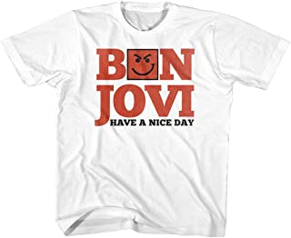 Bon Jovi Rock Band Have A Nice Day White Toddler Little Boys T-Shirt Tee
