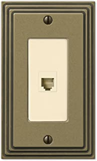 Steps Antique Brass 1 Phone Jack with Hardware
