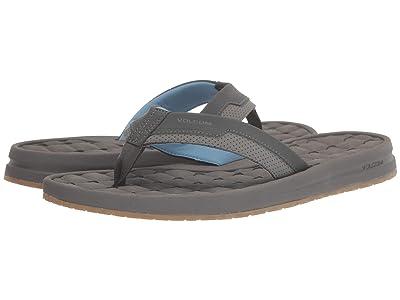 Volcom E-Cliner Sandal (Grey/Blue) Men