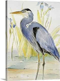 Great Blue Heron Canvas Wall Art Print, 18