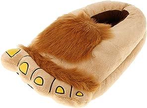 IPOTCH Hairy Bag Feet Slippers Hobbit Feet Costumes Indoor Shoes For Women Men