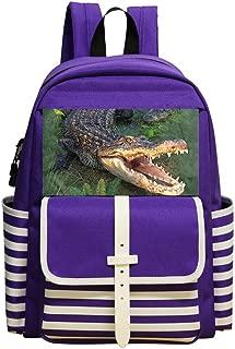 Mini School Backpack For Kindergarten Boys Girls,Print Gator,Purple
