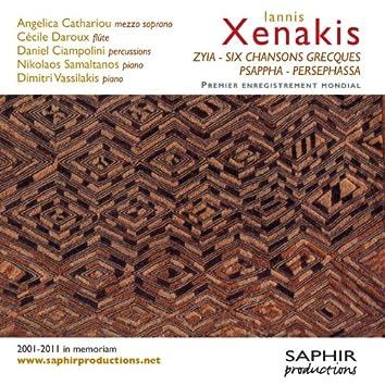 Iannis Xenakis: Zyia - Six chansons grecques - Psappha - Persephassa