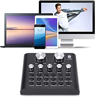 Tablet e dispositivi di Gioco convertitore Audio con 7 Diversi Cambi di Voce Dpofirs Mini Scheda Audio Cambia Voce per Computer Adatto per Computer telefoni