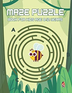Maze puzzle book for kids age 8-12 years: Maze Learning Activity Book for Kids Workbook for Children with Games, Puzzles, ...
