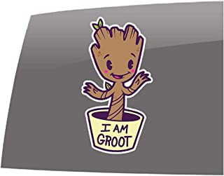 Window Swag Baby Groot - I am Groot - Color - Decal - Guardians of the Galaxy Inspired - Vinyl Sticker