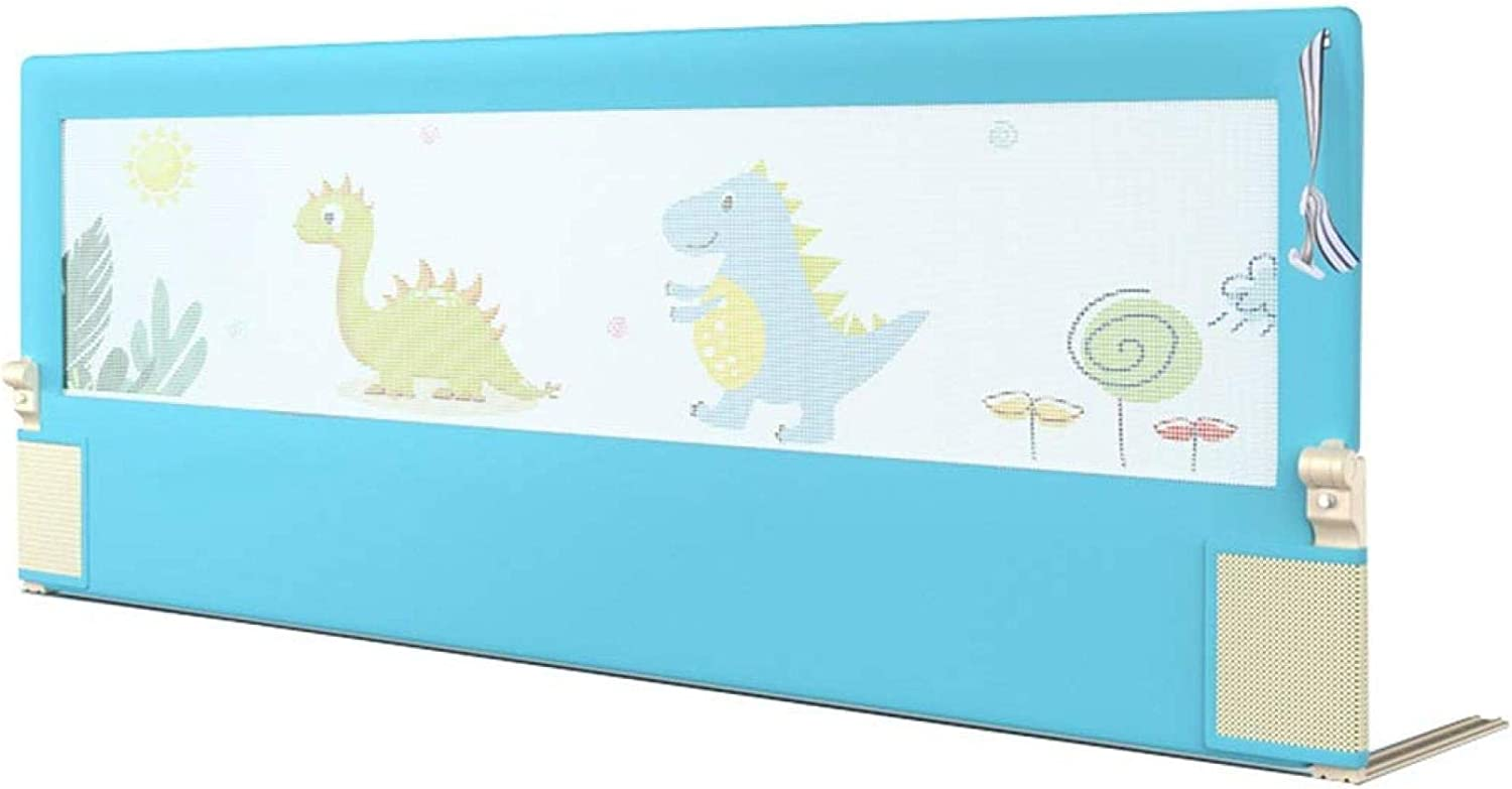 MYYINGBIN Blue Dinosaur Printed security Bed with Guardrail Anti-Collisio Cheap mail order shopping