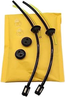 SWNKDG 2ps Universal Kit de filtros de gasolina Tubo Sello para cepillo cortador cortadora cortacésped cepillo cortador Ti...