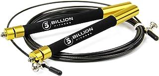 5BILLION Cuerda para Saltar de Velocidad - Aluminio - Ajustable con Rodamiento de Bolas - Entrenamiento para el Entrenamiento Doble, Entrenamiento Cruzado, Ejercicio, WOD, MMA y Entrenamiento del Box