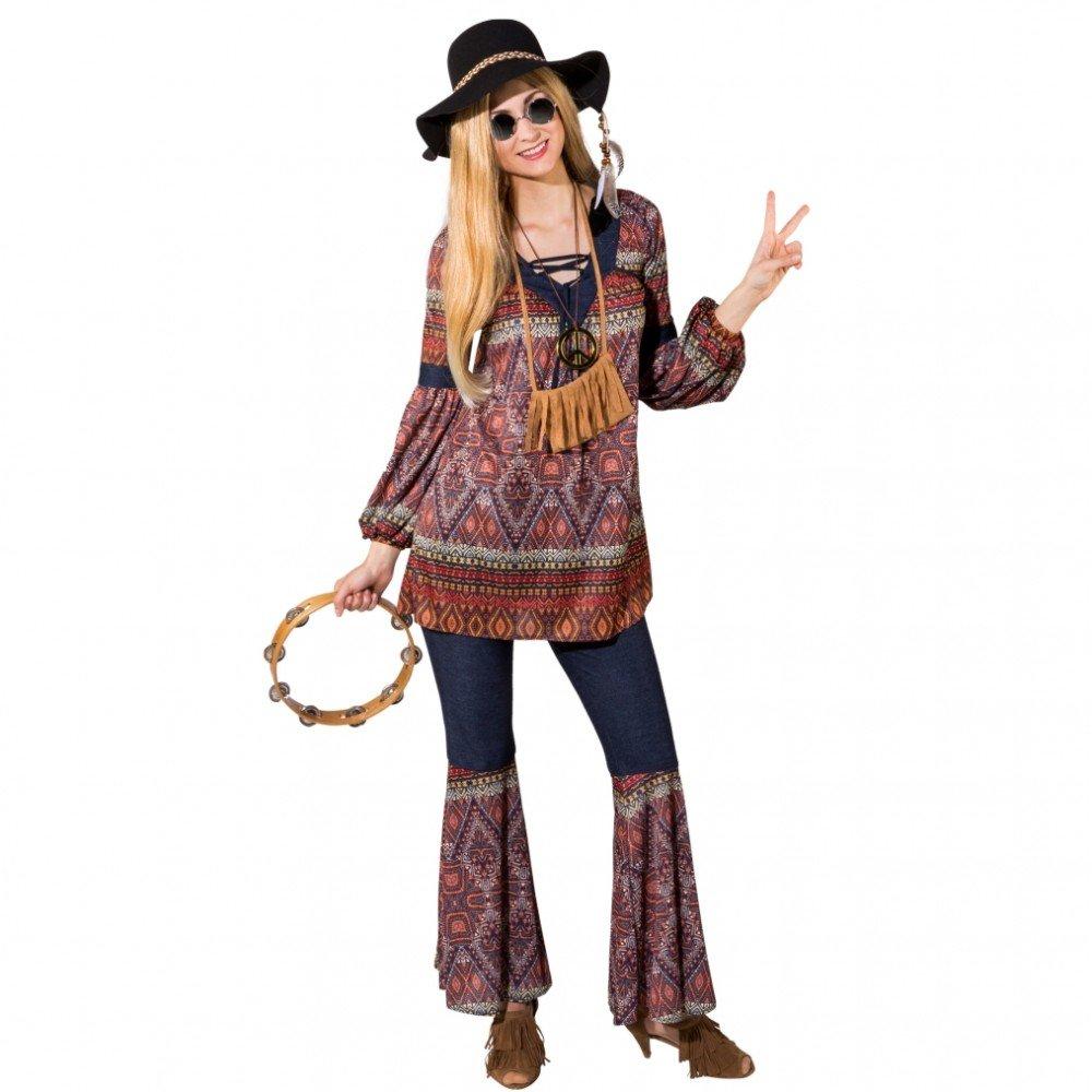 Krause & Sohn Disfraz de hippie para mujer Gr. 34-48 Coachella ...