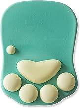 Cat Paw Mouse Pad with Wrist Support Soft Gel Wrist Rest Pad Cute Design - Cushion Comfort Mousepad Computer Mac Laptop Mouse Mat Desk Decor (Green)