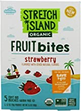 STRETCH ISLAND, Fruit Bite, Og2, Strawberry, Pack of 9, Size 5/.7 OZ, (Gluten Free GMO Free Vegan 95%+ Organic)