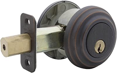 Copper Creek DB4420TB Low Profile Double Cylinder Deadbolt in TB Finish