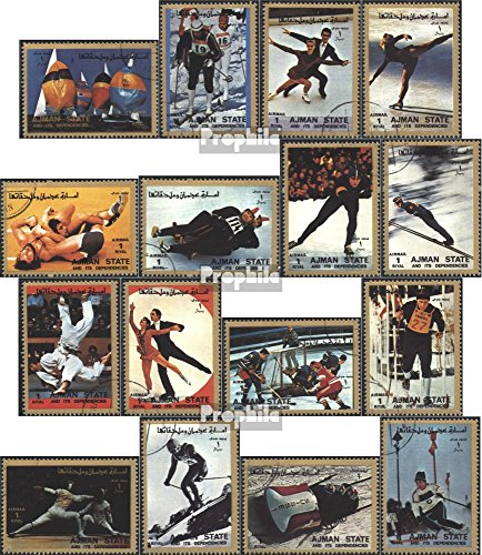 Prophila Collection Ajman 2717A-2732A (Completa Edizione) 1972 Olympics Giochi (Francobolli per i Collezionisti) Sport Invernali