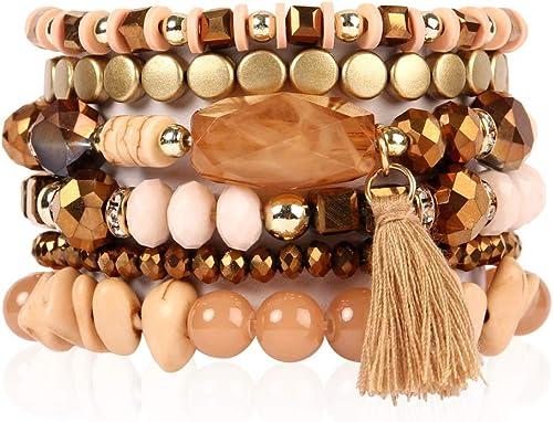 Conjunto de 5 emparejar tono oro y anillos de cristal puede ser en capas hasta bien