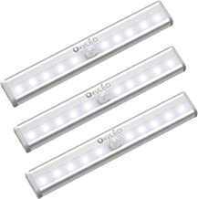 OxyLED Motion Sensor Closet Lights, Cordless Under Cabinet Lightening, Wireless Stick-on Anywhere Battery Operated 10 LED ...