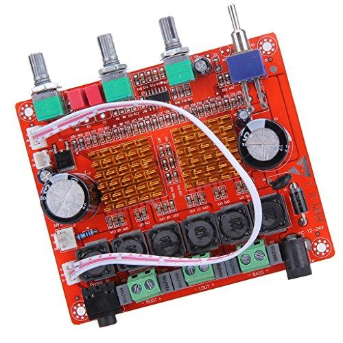 MagiDeal 100W Numérique Subwoofer Amplifier Board AMP + 2.1 12V 24V 50W*2