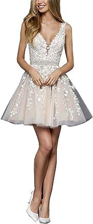 6850251d0b V Backless V-Neck 2019 Homecoming Dresses A-line Lace Beaded Short Formal  Dress
