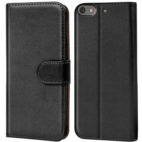 Verco Custodia per Huawei G Play Mini, Case per G Play Mini Cover PU Pelle Portafoglio Protettiva, Nero
