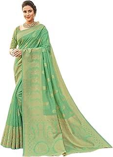 بلوزة ساري من القطن للنساء الهندي متعدد الألوان بأحدث صيحات الموضة مع Pallu 5764