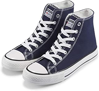 Women's Fashion Sneakers Canvas Shoes High Top Lace-up...