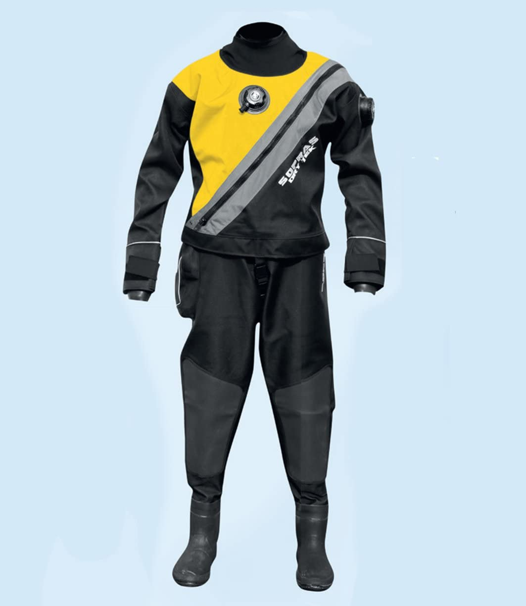 SOPRAS SUB Yellow TRILAMINATE DRYSUIT with Front Technica Zipper Free shipping Sale SALE% OFF on posting reviews