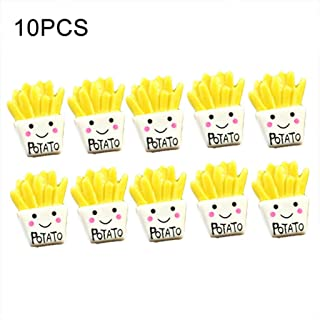 NAMEVER French Fries Polymer Slime Modeling Clay DIY Kit Accessories Box Toy for Kids - 10pcs