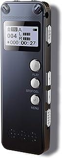 Lahuko Grabadora de Voz Digital Portatil diseño de Metal 8 GBgrabación HD de 1536kbpsreducción de RuidoMP3 activación automática batería Recargable