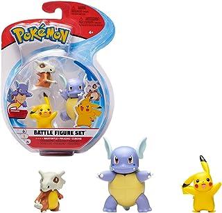 Pokémon Battle Figure Wartortle, Pikachu, Cubone, Multi Color, PKW0046