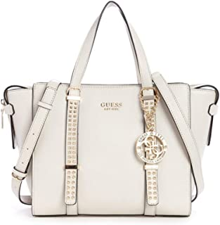 GUESS Eileen Small Status Satchel Stone One Size