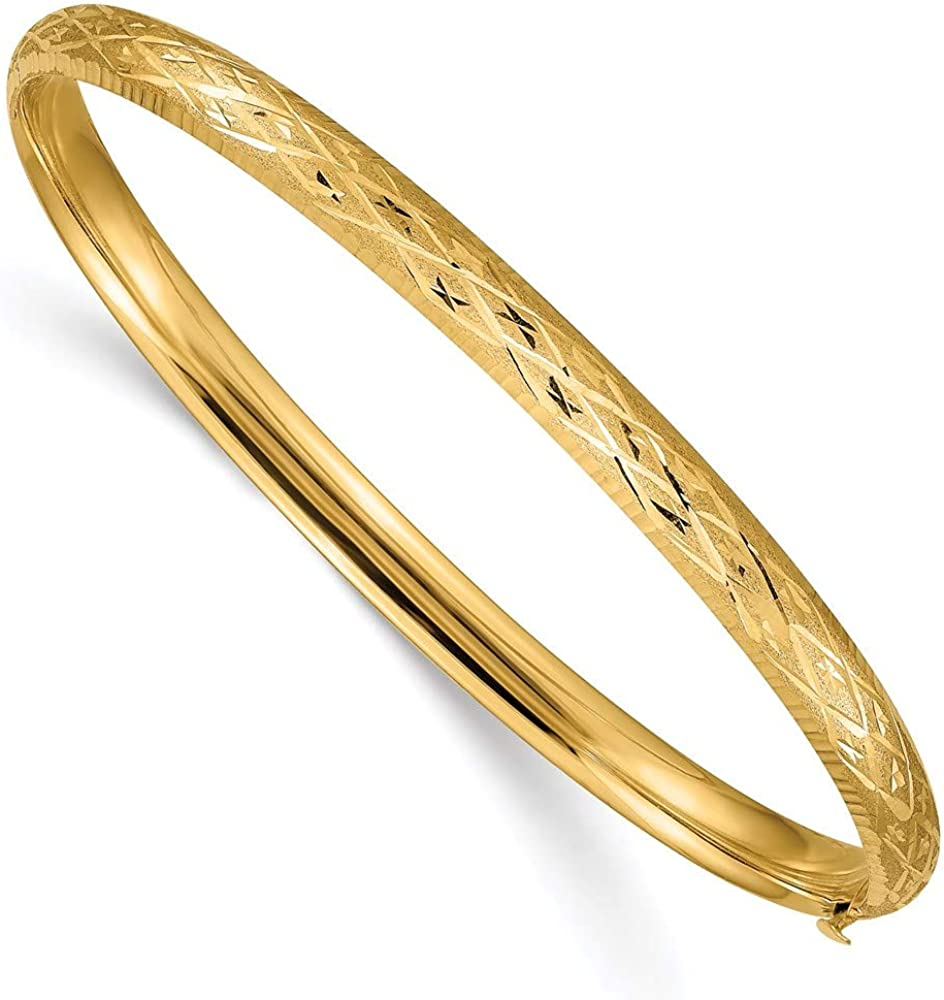 14k Yellow Gold 4.75mm Hinged Bangle Bracelet Cuff Expandable Stackable Fine Jewelry For Women Gifts For Her