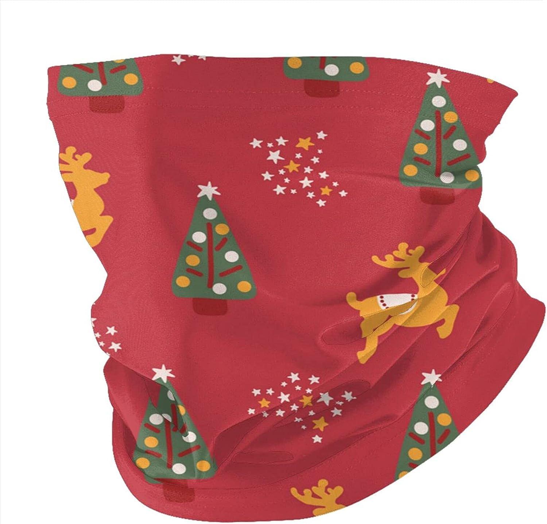 Variety Head Scarf,Christmas Trees Reindeer StarsVariety Headscarves Men And Women Multi-Function Headscarves.