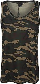 HAOYIHUI Women's Casual Sleeveless Round Neck Camouflage Printed Shirt