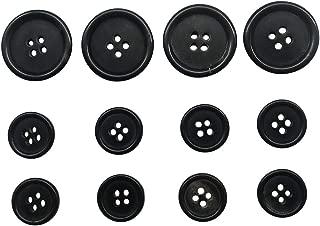 12 pcs Genuine Horn Blazer Suits Button Set for Blazer, Suits, Sport Coat, Uniform, Jacket (Black),Q356