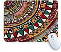 Mabby ゲームオフィスのマウスパッド,African Folkloric Tribe Round Pattern with Ethnic Tribal Colors Aztec Artwork print,Non-Slip Rubber Base Mousepad for Laptop Computer PC Office